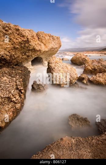 Sea Caves of Georgios, Paphos - Stock Image
