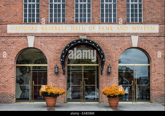 National Baseball Hall of Fame and Museum, Cooperstown, New York, USA - Stock Image