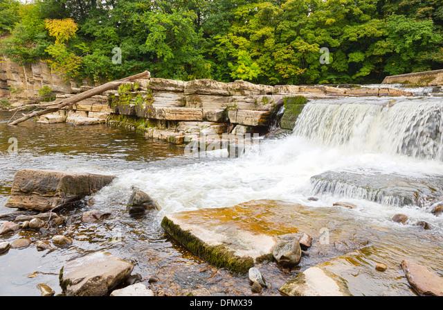 Waterfalls at Richmond, Yorkshire - Stock Image