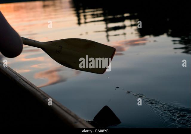 Canoe oar - Stock Image