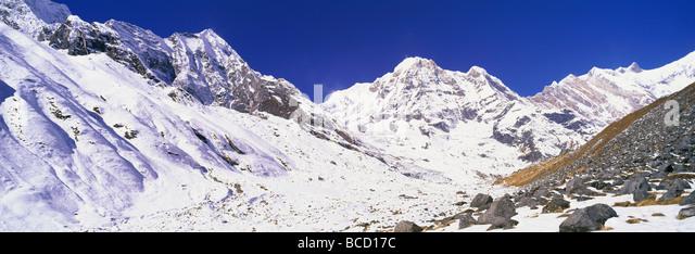 Annapurna Sanctuary. Annapurna Conservation Area. Nepal - Stock Image