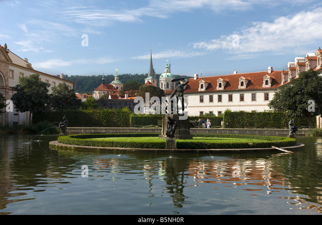 Wallenstein palace stock photos wallenstein palace stock for Ornamental pond fish port allen