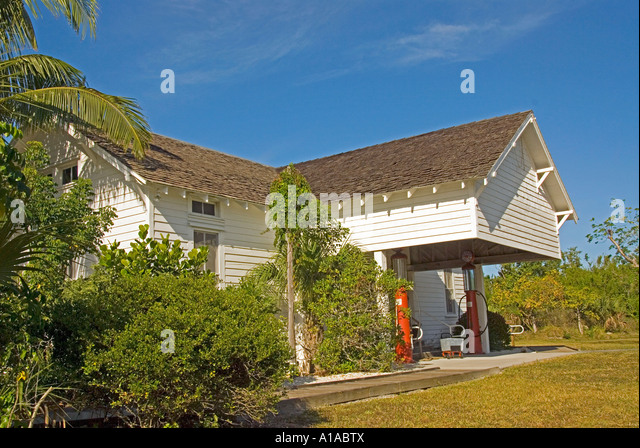 Florida Sanibel Island Historical Village & Museum old coutry store & gas station - Stock Image
