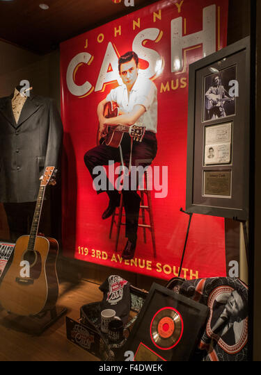 Johnny Cash museum in Nashville Tennessee - Stock Image