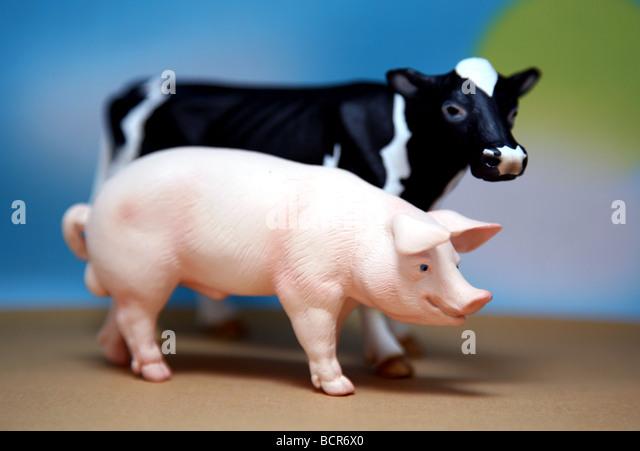 Model farm animals - Stock Image
