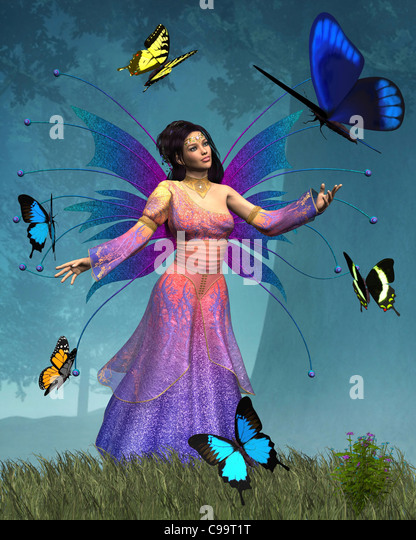 Butterfly Fairy Queen - Stock Image
