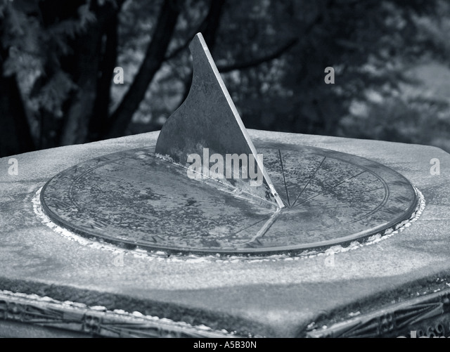Old sun dial. - Stock Image