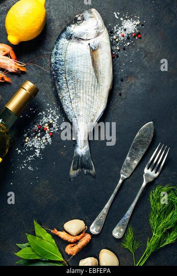 Fish restaurant menu stock photos fish restaurant menu for Aromatic herb for fish