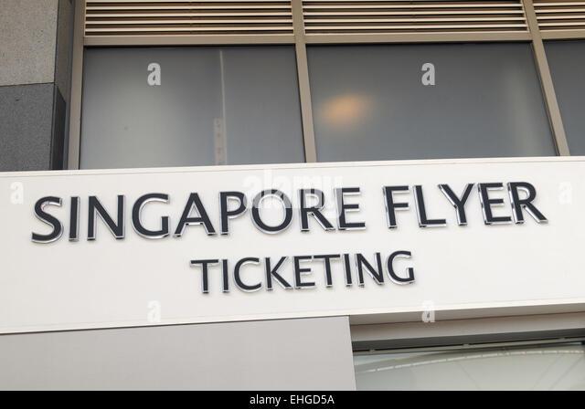 Singapur Flyer / Singapore Flyer - Stock Image