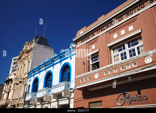 Colonial architecture, Asuncion, Paraguay, South America - Stock Image