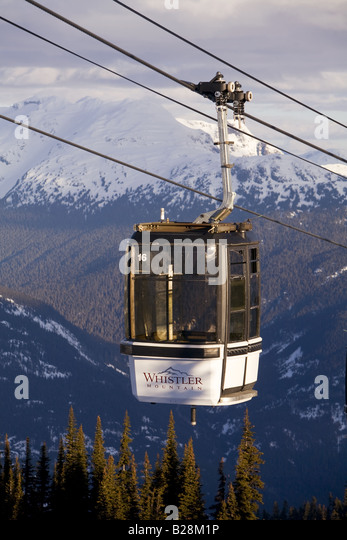 Gondola Whistler Mountain British Columbia Canada - Stock Image