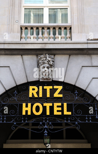 Exterior of The Ritz hotel Piccadilly, London - Stock Image