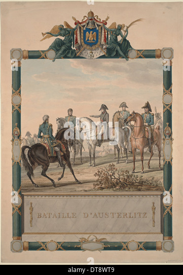 The Battle of Austerlitz on December 2, 1805, 1805. Artist: Vernet, Carle (1758-1836) - Stock Image