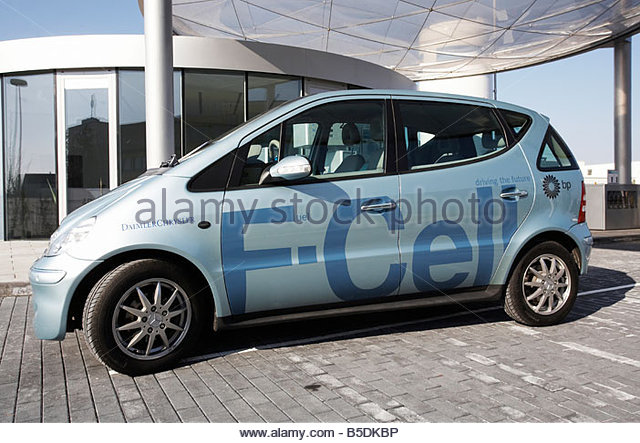 Daimler Chrysler fuel cell vehicle, Munich, Germany - Stock Image