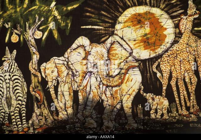 Batik in Mozambique - Stock Image