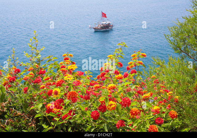 Seashore in Antalya, Turkey - Stock Image