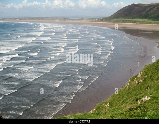RHOSSILI BAY, Gower, Wales. Photo Tony Gale - Stock Image