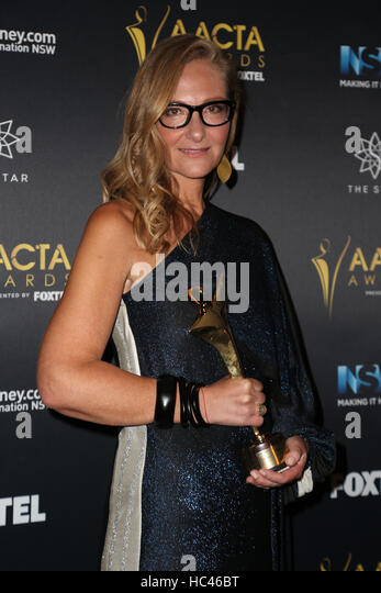 Sydney, Australia. 7 December 2016. Eva Orner poses in the media room after winning the AACTA Award for Best Feature - Stock-Bilder