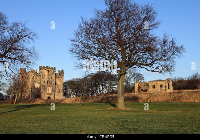 Hylton Castle and chapel Sunderland, North East England - Stock Image