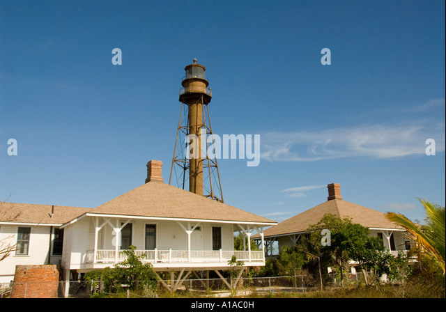 Florida Sanibel Island lighthouse tower and light - Stock Image