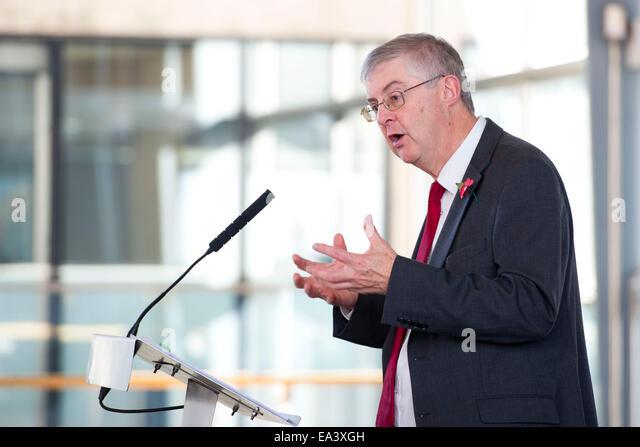 Wales Health Minister Mark Drakeford. - Stock Image