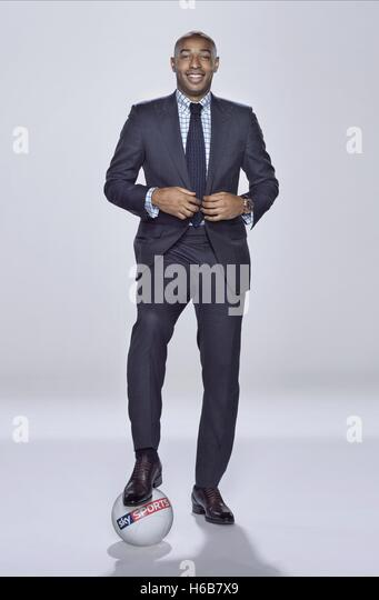 THIERRY HENRY SKY SPORTS PRESENTER (2014) - Stock Image