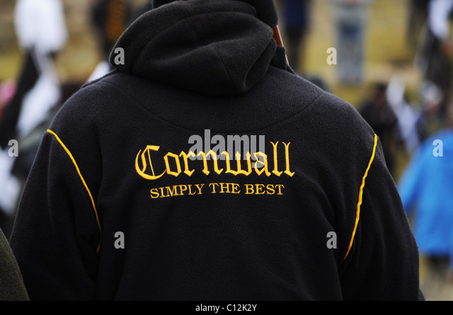 A cornwall rugby supporter - Stock Image