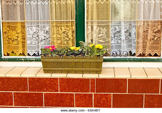 window box,bourgeois - Stock Image