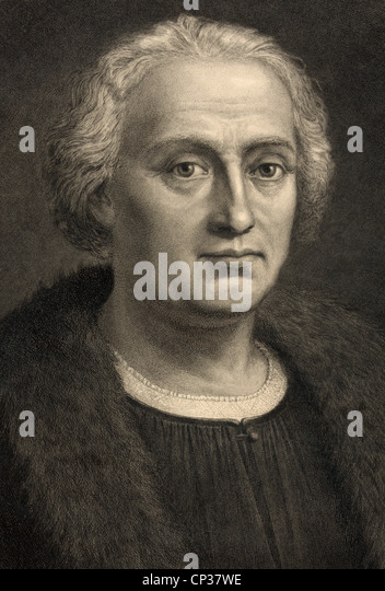 Christopher Columbus 1451-1506. Italian born Spanish financed explorer discoverer of America. - Stock Image