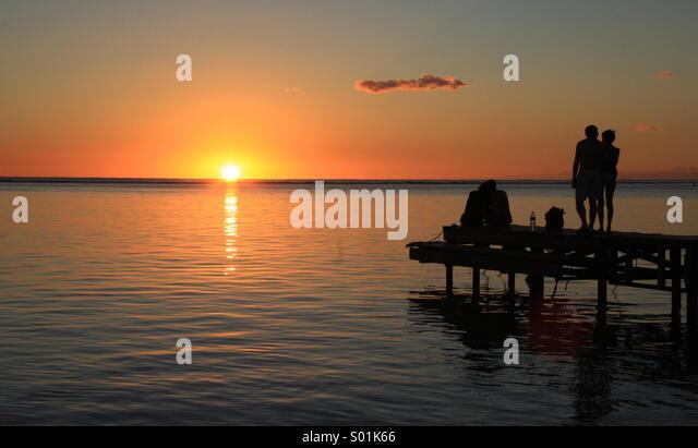 Romantic Sunset - Stock-Bilder