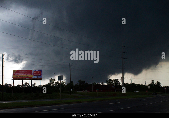Tuscaloosa, Alabama tornado April 27, 2011 - Stock Image