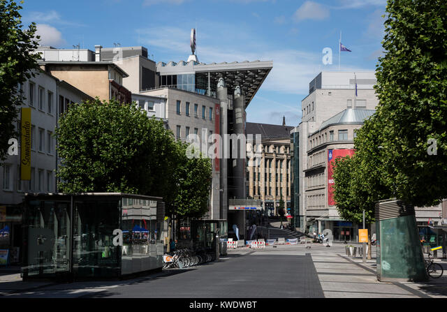 Town centre of Bochum, Ruhr Area, North Rhine-Westphalia, Germany - Stock Image