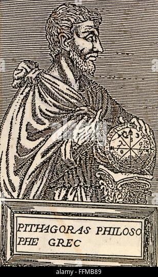 Pythagoras of Samos, 16th century - Stock Image