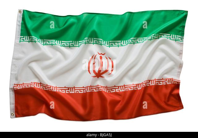 iranian flag - Stock Image