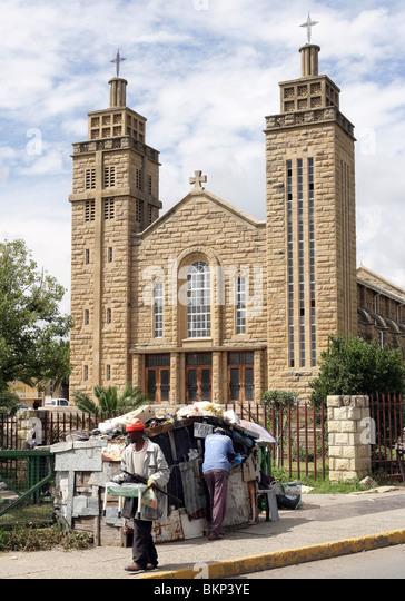 roman catholic Cathedral in Maseru, Capital of Lesotho - Stock-Bilder