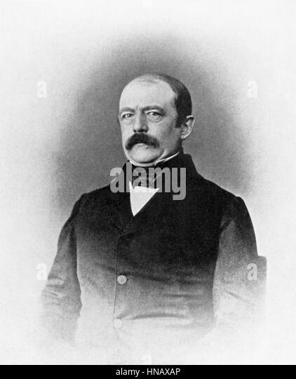OTTO VON BISMARCK STATESMAN (1850) - Stock-Bilder