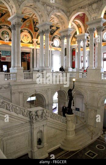 Washington, DC, USA. 9th Dec, 2015. Photo taken on Dec.9, 2015 shows an interior view of Library of Congress in - Stock-Bilder