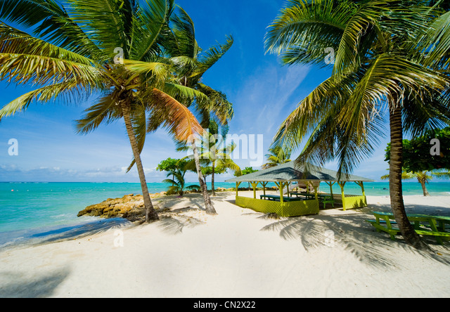 Pigeon Point beach, Tobago - Stock Image