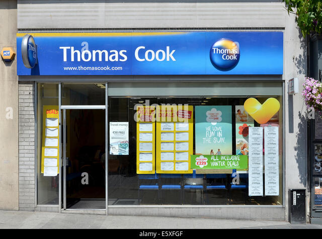 Thomas Cook travel agency office - Stock-Bilder