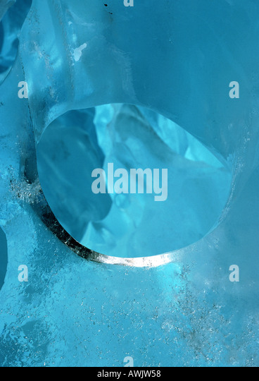 Norway, ice from glacier, close-up - Stock Image