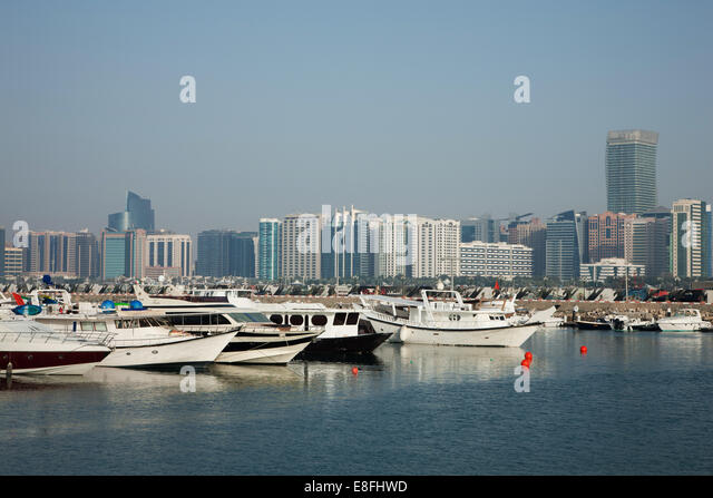 United Arab Emirates, Abu Dhabi, Skyline - Stock Image