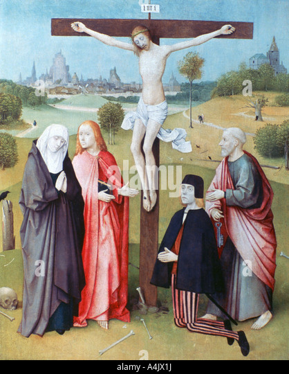 The crucifixion and saints stock photos amp the crucifixion and saints