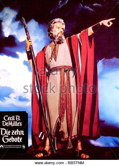 Moses Ten Commandments Movie Charlton Heston Moses ...