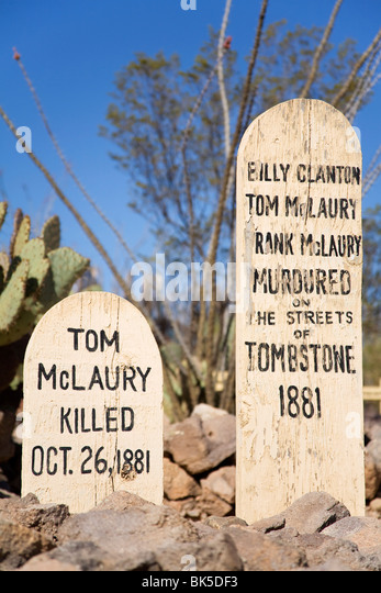 Boothill Graveyard, Tombstone, Cochise County, Arizona, United States of America, North America - Stock Image