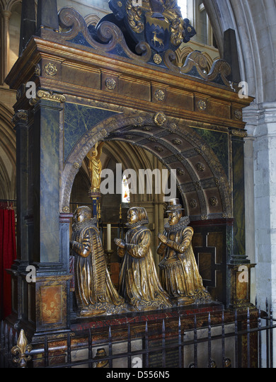 Southwark Cathedral Humble monument - Stock Image