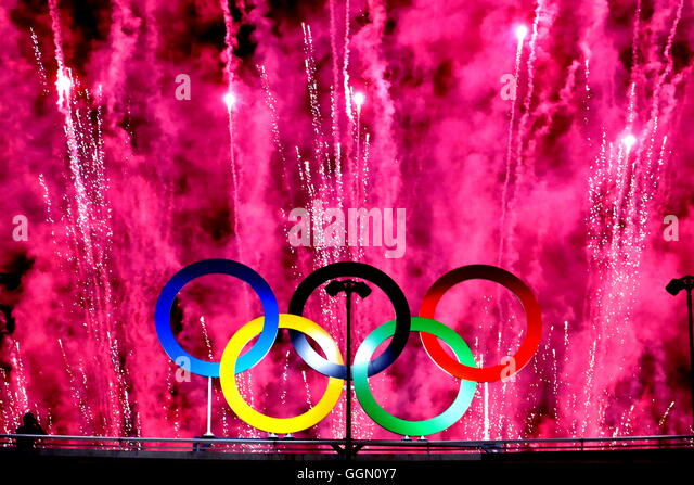Rio de Janeiro, Brazil. 5th August, 2016. Japan Delegation (JPN), AUGUST 5, 2016 : Opening Ceremony at Maracana - Stock Image