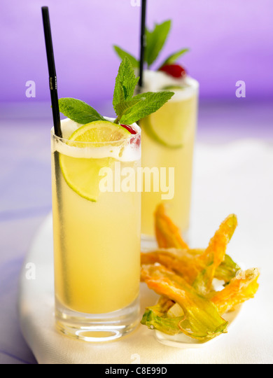 Cuba Punch cocktail - Stock Image