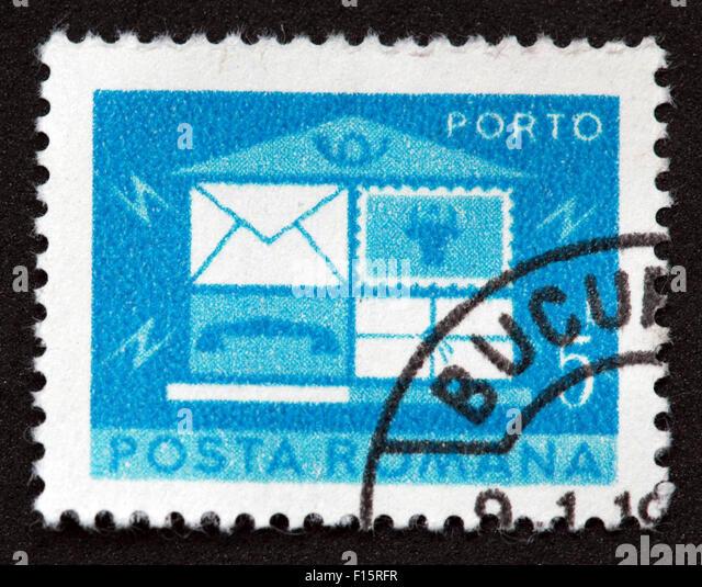 Posta Romana 5 Stamp - Stock Image