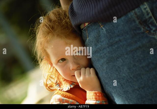 Shy girl - Stock Image