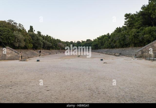 Ancient Stadium Rhodes - Stock Image